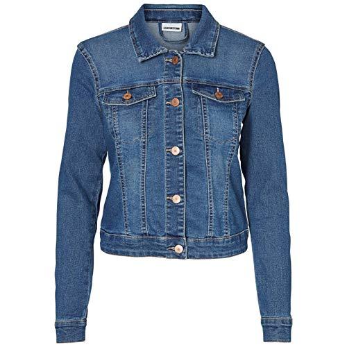 NOISY MAY NMDEBRA LS DENIM JACKET NOOS, Blouson Femme, Bleu (Medium Blue Denim), 36 (Taille fabricant: Small) prix et achat
