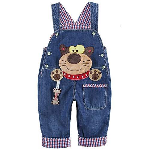 DEBAIJIA Salopette Jeans Bébé Garçons Filles Modèle Animal Enfant Denim Pantalon Doux avec...