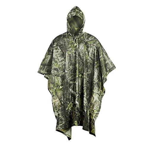 Imperméables à Capuche Pour Camping, Onlyhere 3 en 1 Multifonction Camouflage militaire pluie...