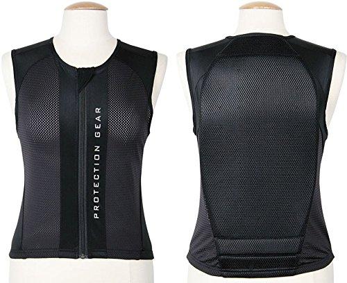 Protection dorsale - Gilet de sécurité - Confortable à porter - Noir
