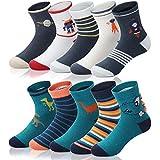 Adorel Chaussettes Basses Coton Socquettes Garçon Lot de 10 Dinosaure Fusée 32-34 (Taille Fabricant: XL)