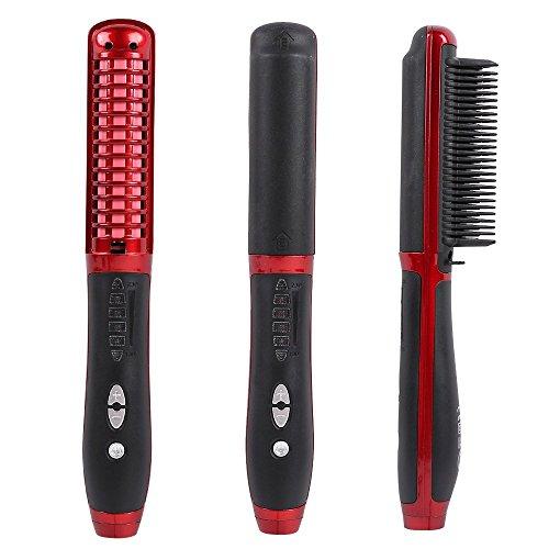 Brosse lisseur cheveux, Willdo Défriser les Cheveux Anti Scald Anti Statique Fer à lisser avec Technologie Ionique (Rouge) prix et achat