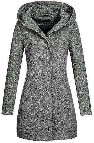 ONLY onlSEDONA Light Coat OTW Noos Manteau, Gris (Dark Grey Melange), 38 (Taille Fabricant:...