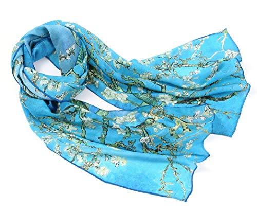 prettystern peinture foulard de soie 160cm van Gogh oeuvres d'art de l´Impressioniste -...