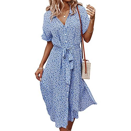 KeYIlowys Robe imprimée pour Femmes Style de Vacances décontracté Printemps et été Sexy Grande Jupe balançoire Taille Jupe Longue imprimée prix et achat