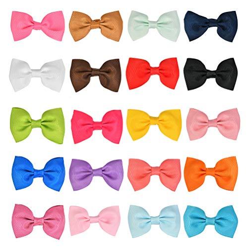 BUYGOO 20x Pinces à Cheveux Barrettes à Cheveux Nœuds Papillon Bowknot avec Clips Couverts...
