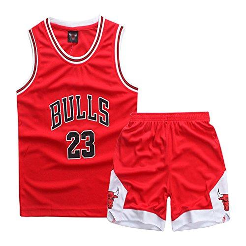 YISPORT Maillots De Basketball Basket Maillots Michael Jorden#23 Basketball T-Shirt Et Short...