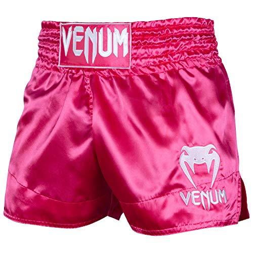 Venum Classic Short de Muay Thai Mixte Adulte, Rose/Blanc, FR : S (Taille Fabricant : S) prix et achat