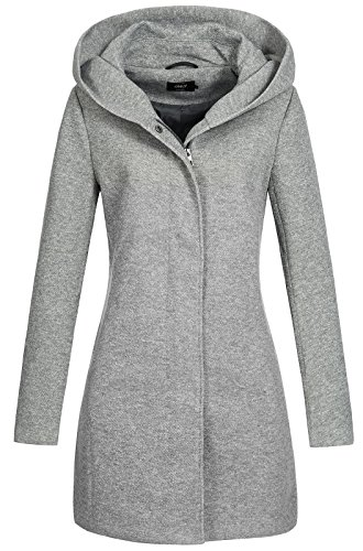 ONLY onlSEDONA Coat OTW Noos Manteau, Gris (Light Grey Melange), 42 (Taille Fabricant: X-Large)...