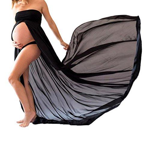 Jupes Enceintes Maternité Photographie Robe Sexy Longue Jupe en Mousseline de Soie pour Photo...