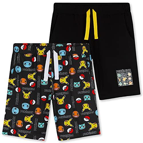 Pokemon Short Garçon, Lot de 2 Shorts en Coton avec Poches, Short Enfant Garçon et Ado 4 à 14 Ans (Noir, 7-8 Ans) prix et achat
