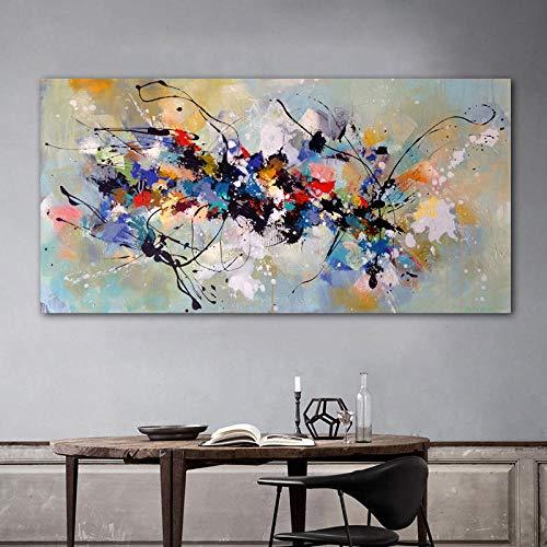 Coloré Splash Toile Tableau Peinture à L'Huile Kandinsky Abstrait Murale Art Graffiti Art Affiches Moderne Salon Decoration à La Maison Tableaux 50x100 Cm Sans Cadre