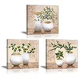 Piy 3x Impression arbre dans vase à fleurs