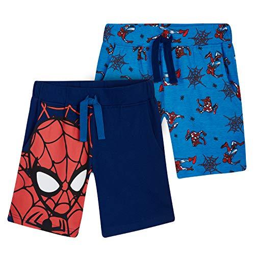 Marvel Short Enfant Spiderman, Lot De 2 Shorts en Coton Motif Super Héro, Idée Cadeau pour Enfant Garçon 2-12 Ans (Bleu, 3-4 Ans) prix et achat