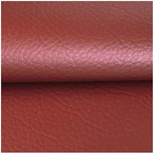 Tissu Simili Cuir Faux Cuir Imperméable Sac Souple en Cuir Tissu Imitation Cuir Tête de Lit Bricolage Fond Canapé Mural Siège de Voiture Meubles Veste Similicuir (Largeur 140 Cm)