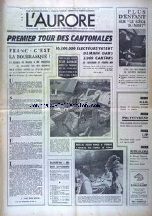 AURORE (L') [No 9039] du 22/09/1973 - VOITURE - PLUS D'ENFANT SUR LE SIEGE DU MORT - 1ER TOUR...