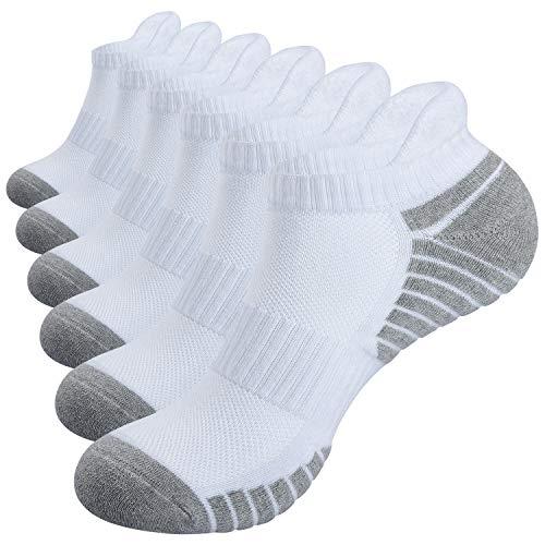Alaplus Chaussettes Hommes et Femme, 6 Paires Sport Coton Socquettes Courtes Basses...