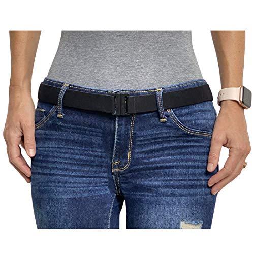 Tights Up: Ceinture Élastique Femme Ajustable, élastique ceinture, Ceinture femme tissu Boucle de Ceinture Plate (Ceinture Noire) prix et achat