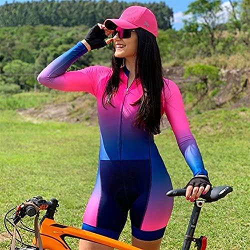 Triathlon Maillot de cyclisme pour femme Vêtements de sport à manches longues Vêtements de cyclisme Équipe professionnelle Vêtements de VTT Combinaison (Color : 6, Size : XX-SMALL)