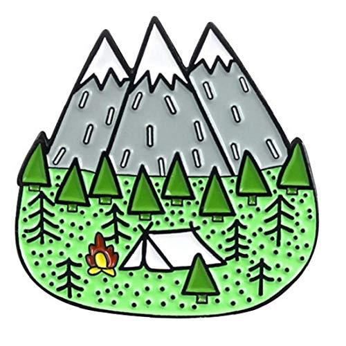 LAVALINK Forêt De Montagne Jungle Émail Broche Pins Dripping Huile Collier Étiquette pour Veste Manteau Robe Décor Bijoux