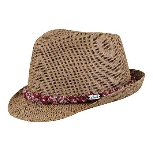 Chillouts Labasa Chapeau, 82 Red/Brown, L-XL Femme