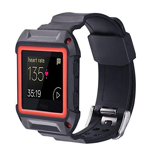 Bandmax Coque de protection en TPU pour montre connectée Fitbit Blaze - Gel de silice étanche...