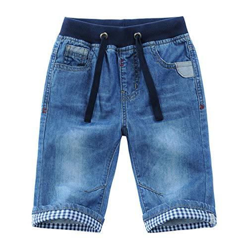 Happy Cherry Garçon Short en Denim Enfant avec Poches Bermuda en Jean avec Cordon Pantalons...