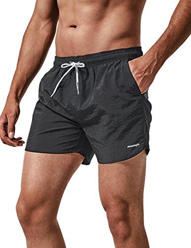 MaaMgic Short de Bains Homme Maillot de Bain Pants Court de Sport Séchage Vite Bien pour Vacance a la Plage,3 Noir,Large(tour de taille:86~92cm) prix et achat
