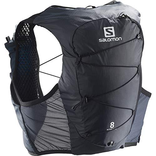 Salomon Active Skin 8 Set Gilet d'hydratation Unisexe 8 L 2 x Soft Flasks Incluses Pour Trail...