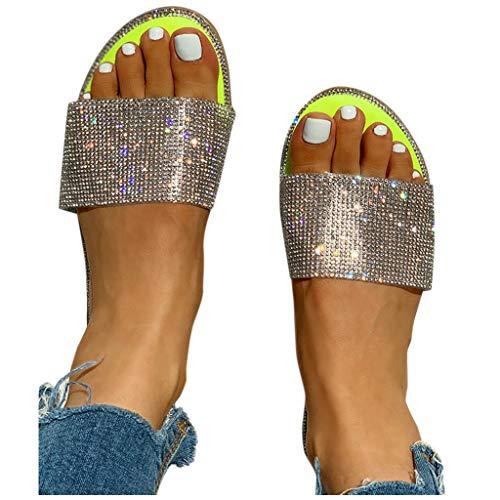 AZEWO Femmes Sandales D'été Casual Chaussures Plates Talon Plat Élégant Sandales Romaines Mules Peep Toe Flip Flop Chaussures Sandales De Plage prix et achat
