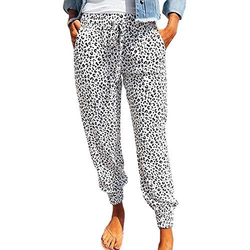 Vertvie Pantalon Femme Boho Harem Pantalon Léger Imprimé Floral Pantalon Fluide Mode Plage...
