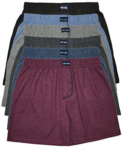 MioRalini 6 Boxer Homme Couleur Unie, Article: 6 sans Intervention SET08, Taille: M-5