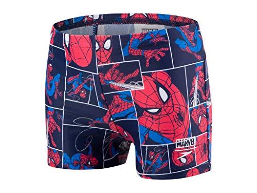 Speedo Marvel Spiderman Short de Bain pour garçon, multicoloreSpiderman Navy/Lava Red, 4 ans