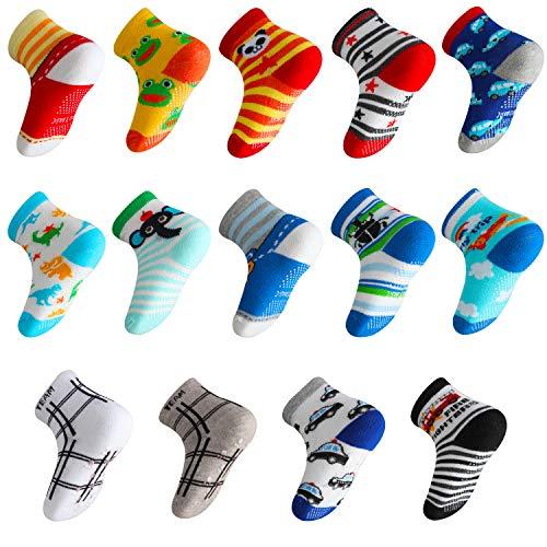 Lictin 14 Paires de Chaussettes Antidérapants Unisexes pour les Bébés de 1 – 3 Ans prix et achat