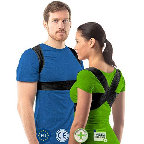 Correcteur de posture pour femmes et hommes par aHeal | Redresse dos pour une bonne posture | Corset orthopédique pour scoliose | Soulagement des maux de dos et correcteur de posture | Taille 3 Noir