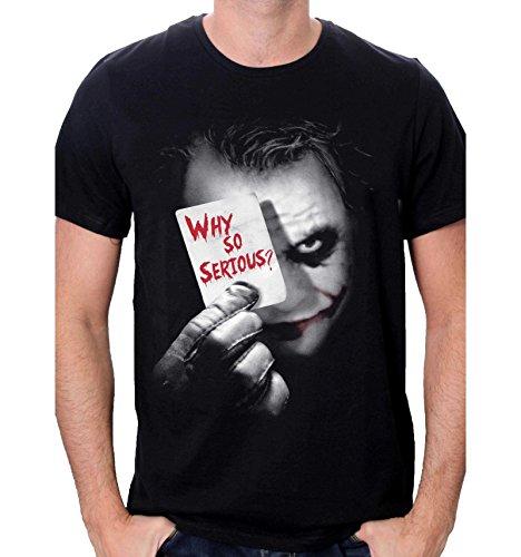 Batman Joker Why So Serious T-Shirt, Noir, XX-Large (Taille Fabricant: XXL) Homme