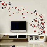 Walplus : Stickers muraux style cerisier en fleurs et papillons
