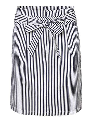 Vero Moda Vmeva HR Paperbag Cot PS Skirt Noos GA Jupe, Blanc Neige, M Femme