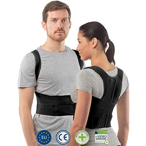 Correcteur de posture par aHeal | Redresse posture dos élastique pour femme | Support thoracique et lombaire | Soulagement des maux de dos | Rééducation post-blessure et chirurgie | Taille 3 Noir