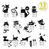 Foonii : 13 pièces d'autocollants muraux chat