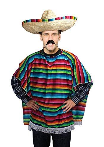 Bristol Novelty AC560 Poncho Mexicain pour Adulte, Taille Unique