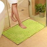 DOTBUY : Tapis de salle de bain chenille vert super absorbant 40x60cm