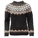Pull à motif en laine Islandaise pour femme