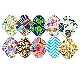 10 pièces 20,3 cm réutilisable lavable en machine en bambou chiffon Mama de culotte menstruelle Premium