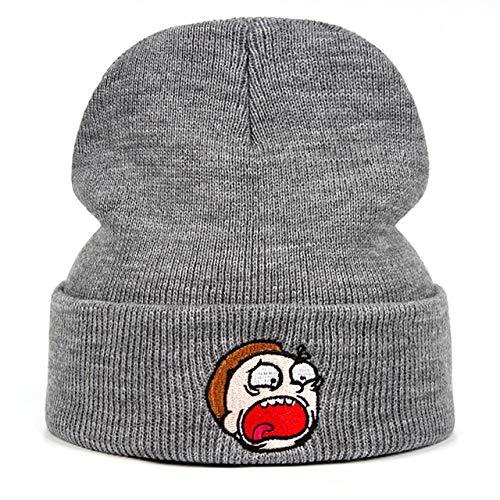 Chapeau tricoté d'hiver Bonnet Ski Outdoor Bonnet en tricotGris