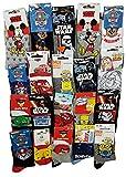 Disney socks Pack de chaussettes Licence fantaisies assorties - Assortiment selon arrivages- (31/34, Pack de 10 modèle enfant Garçon)