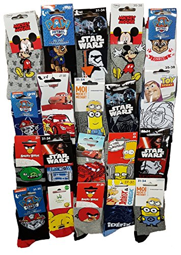 Disney socks Pack de chaussettes Licence fantaisies assorties - Assortiment selon arrivages-...