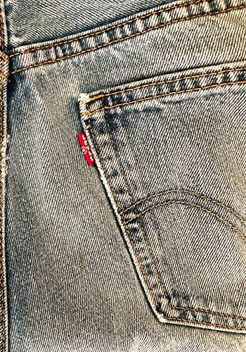 LEVIS: 7x10 vintage Levi's denim jeans wide ruled notebook for denimheads
