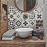 Adhésifs décoratifs à carreaux pour salle de bains 24 pièces