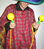 Mondial-fete - Poncho péruvien - Taille Unique Mixte